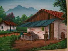 Resultado de imagen de pinturas de paisajes tipicos de costa rica