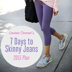 Shape Up: My 7 Days to Skinny Jeans 2015 Schedule