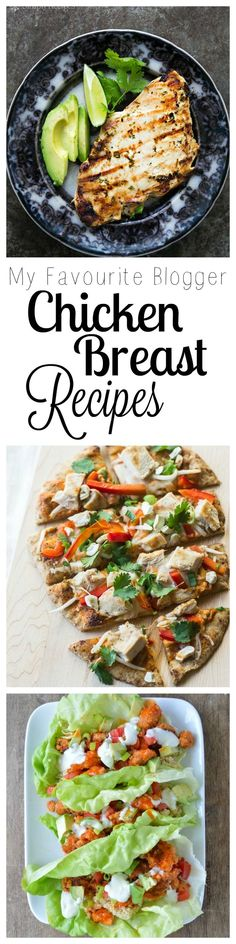 Check out my list of the Best Healthy Chicken Breast Recipes (thank you to my fav bloggers who contributed)!