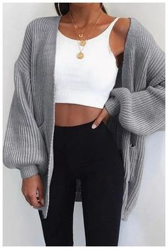 LASPERAL Autumn Winter Batwing Sleeve Knitwear Cardigan Women Large Size Knitted Sweater Cardigan Female Fashion Jumper Coat New Cute Casual Outfits, Fall Outfits, Summer Outfits, Christmas Outfits, Black Outfits, Party Outfits, Casual Clothes, Simple Outfits, Looks Style