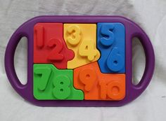 Tupperware Tuppertoys PUZZLE What s Inside Numbers Colors COMPLETE CLEAN