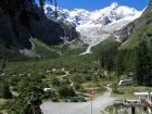 Camping by Glaciers, La Fouly - Val Ferret.