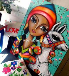 Llama Arts, Altered Canvas, Abstract Faces, Great Paintings, Acrylic Canvas, Kandinsky, Creative Art, Illustration, Folk Art