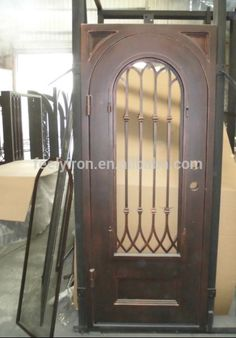 Ornamental iron door designs FS-069