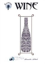 Alessandra Adelaide cross stitched wine bottle.
