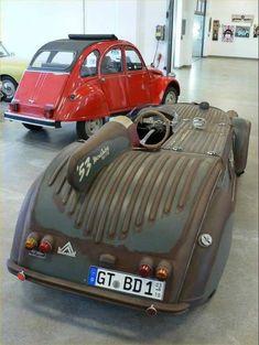 Sport Cars, Race Cars, Diy Go Kart, 2cv6, Futuristic Cars, Futuristic Vehicles, Mens Toys, Roadster, Weird Cars