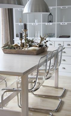 IKEA Tobias chair perfect match with our kitchen table - out with our old chairs and in with the new! #modern