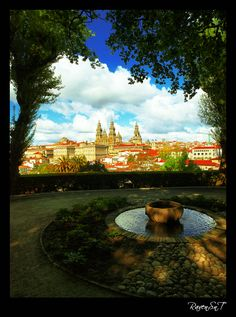 View of Santiago de Compostela Cathedral, from La Alameda Park, Galicia Spain Andalucia Spain, Granada Spain, Seville Spain, Madrid Travel, Barcelona Travel, Places In Spain, Places To See, San Sebastian Spain, Travel