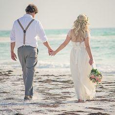 I got married on a beach :) Blue Beach Wedding, Beach Wedding Reception, Beach Wedding Photos, Pre Wedding Photoshoot, Beach Weddings, Coastal Wedding Venues, Thailand Wedding, Bridal Portraits, Wedding Inspiration