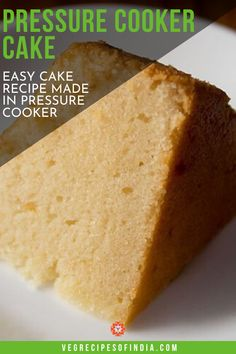 Cooker cake recipe with step by step photos - Spongy and a soft, light textured delicious sponge cake made in pressure cooker.making a basic vanilla sponge cake in a pressure cooker is easy. Egg Free Desserts, Eggless Desserts, Egg Free Recipes, Pressure Cooker Cake, Pressure Cooker Desserts, Sponge Cake Recipes, Easy Cake Recipes, Eggless Vanilla Sponge Cake, Healthy Chocolate Mousse