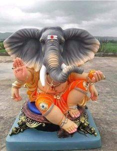 My workshop Bappa Jai Ganesh, Ganesh Idol, Shree Ganesh, Ganesha Art, Clay Ganesha, Dagdusheth Ganpati, Ganpati Bappa, Good Morning Clips, Ganesh Design