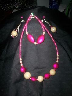 Handmade Necklace, Bracelet and Earring Set Free Shipping S7
