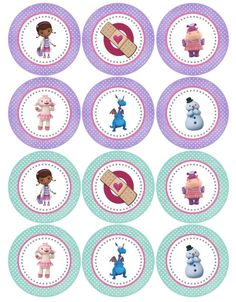Printable Tags, Stickers, Cupcake Toppers, etc Doc Mcstuffins Cupcakes, Doc Mcstuffins Birthday Party, 2 Birthday, 4th Birthday Parties, Doctor Mcstuffins, Doctor Party, Bottle Cap Images, Bottle Caps, Baby Party