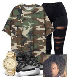 """Untitled #265"" by brooklynnmckenna ❤ liked on Polyvore featuring NIKE and Michael Kors"