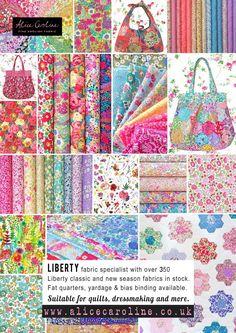 Liberty Fabric, patterns, kits, Liberty Tana Lawn - Liberty of London fabric online Liberty Of London Fabric, Liberty Fabric, Rag Quilt, Quilts, Inchies, Liberty Quilt, Flower Patterns, Fabric Patterns, Shabby