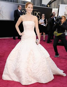Jennifer Lawrence at the Oscars- Christian Dior haute couture spring 2013