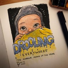 """Drops and bits on Instagram: """"Unstoppable... #inktober #inktober2020 #watercolor #moleskine"""" Moleskine, Inktober, Sketches, Drop, Watercolor, Comics, Illustration, Fun, Instagram"""