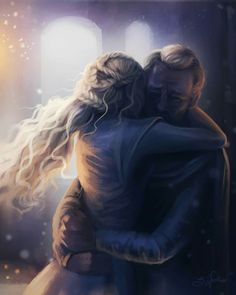 # Dany and Jorah after she lost Viserion Art by Sandra Winter Art Daenerys_Targaryen Jorah_Mormont Fan_art Arte Game Of Thrones, Game Of Thrones Artwork, Winter Is Here, Winter Is Coming, Khaleesi, Daenerys Targaryen, Ser Jorah Mormont, Game Of Trone, My Champion