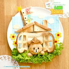 LINE TOWN : Brown in Japan Kid's day -5 May - Toast art plate  Very busy during Golden week holiday.  No animefood long time in last week.  Very very sorry ~T_T~  Yesterdsy, 5 th May was Japan Kid's day  This is my Kid's day menu for this year #^_^# Sorry for one day late for Kid's day menu. I hope that all Brown 's fan like this ❤❤❤