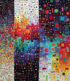 "suite148:  ""Dispersion"" quilt by Carol Taylor"