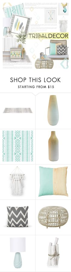 """Modern Tribal Decor"" by kearalachelle ❤ liked on Polyvore featuring interior, interiors, interior design, home, home decor, interior decorating, modern and tribaldecor"