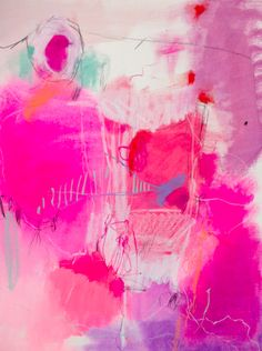 intense pink abstract - artist unknown