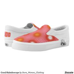 Coral Kaleidoscope Printed Shoes