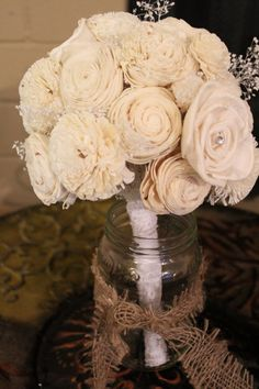 Medium Bouquet with Lace and Pearls Vintage by TexasSweetNothings, $65.00
