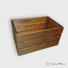 Old Style Rustic Wooden Crate by BigRoundOttomans on Etsy  Made in Charlotte