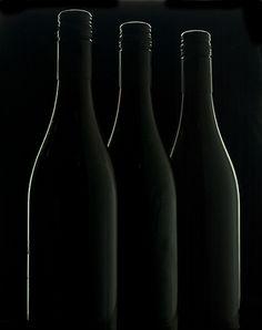 Color Negro - Black!!! Three black bottles by david.kittos, via Flickr