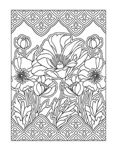 Inspired Modern Art Designs Coloring Books For Grownups Cleonique Illustration