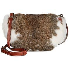Patricia Nash Fur Palma Saddle Bag ($249) ❤ liked on Polyvore featuring bags, handbags, white, fur bag, patricia nash bags, white handbags, white bags and patricia nash purses