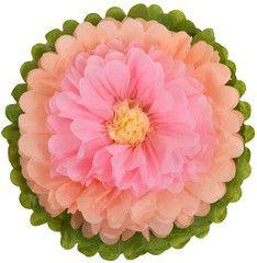 Tissue Paper Flowers Peach Garden Party Baby Shower - Girl Baby Shower Girl Tea…