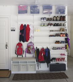 Your garage may be the most underutilized space in your home. Have you maximized your garage space? Check out these tips and tricks to help you get the most out of your garage. Garage Organization Tips, Diy Garage Storage, Storage Hacks, Garage Shelving, School Organization, Garage Shoe Rack, Storage Room Organization, Shoe Shelves, Shelving Units