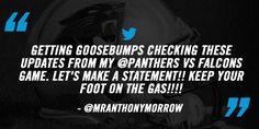 Thanks for your support @MrAnthonyMorrow! Win and we're in! #CARvsATL