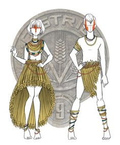District 9 Hunger Game fashion