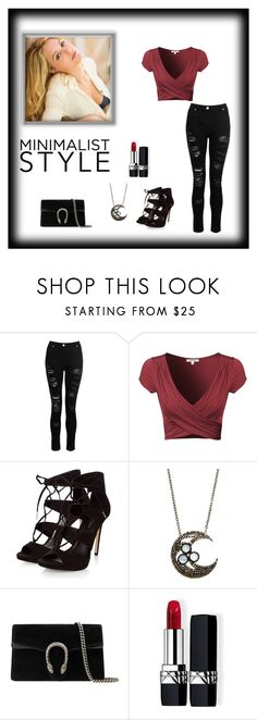 """Untitled #209"" by frostwolf1864 ❤ liked on Polyvore featuring Dorothy Perkins, Bavna, Gucci and Christian Dior"