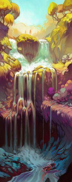 Falls Concept Art by Lizzy-John