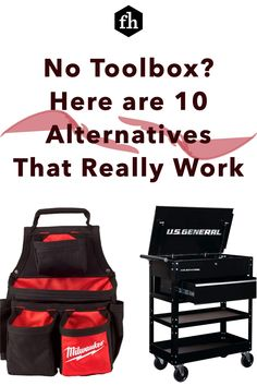 No Toolbox? Here are 10 Alternatives That Really Work Workshop Storage, Tool Storage, Pegboard Organization, Organizing, Truck Tool Box, Tool Tote, Take What You Need, Milwaukee Tools, Get The Job