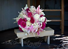 Pretty pink bouquet of Lilies, Roses, Stock, Astilbe & Hydrangeas. Love!