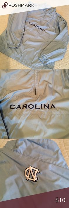 UNC TARHEELS windbreaker pullover UNC TARHEELS windbreaker pullover. Like new. Youth L. Side pockets. Jackets & Coats Raincoats