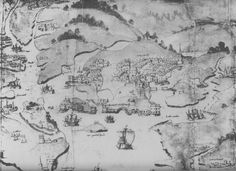 Map of Plymouth, about 1540