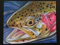 fly fishing art-rainbow