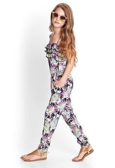 Tropical Print Jumpsuit (Kids) | FOREVER21 #F21Girls