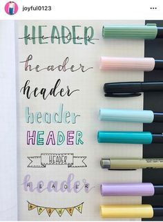 Bullet Journal Font Ideas you must see! - - Looking for a way to spice up your Bullet Journal? Learn everything about bullet journal fonts and how to improve your hand writing.