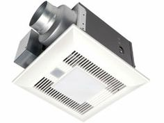 Panasonic FV-08VKME3 WhisperGreen LED™ 80 CFM Ceiling Mounted Ventilation Fan with DC Motor and LED Light SmartAction Motion Sensor