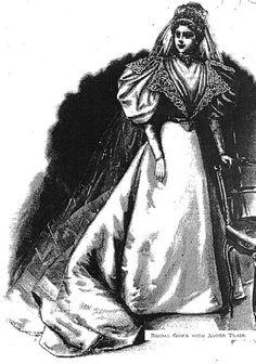 Another complete wedding gown!! Harper's Bazaar- 1895