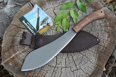 """The Condor Lochnessmuk Survival Knife designed by Joe Flowers is the King sized version of the popular Nessmuk knife. The Lochnessmuk measures 16"""" overall and features a 10"""" blade. The Lochnessmuk retains the swept blade shape of the standard Nessmuk designs, making it an efficient slicer."""