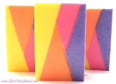 neon brights shea butter vegan handmade soap #colours