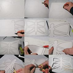 Ideas for each plastic DIY - Joanna Wajdenfeld: stained glasses paper